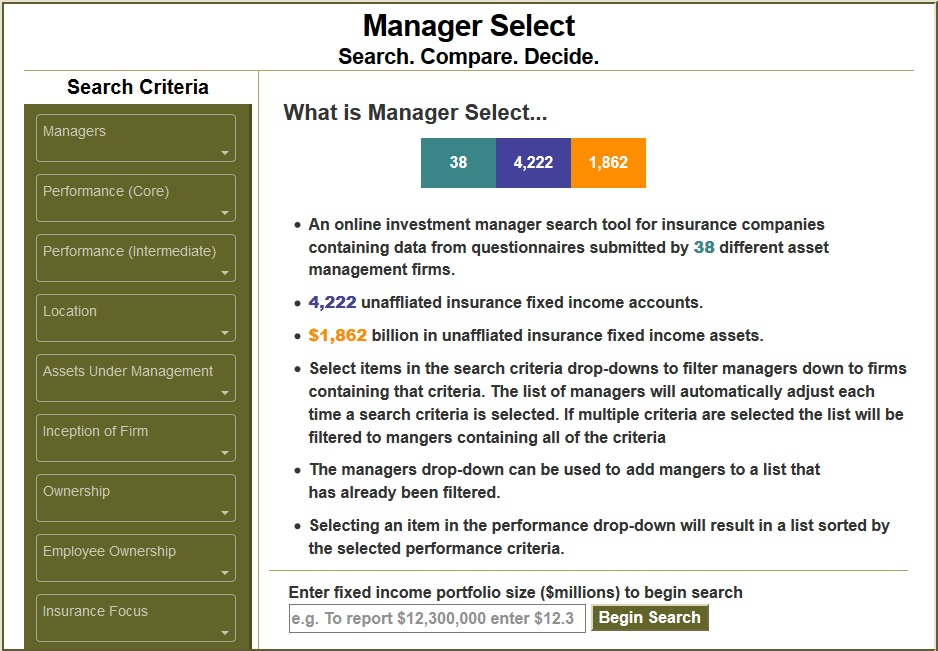 Manager Select:<br>Review & Compare Investment Managers